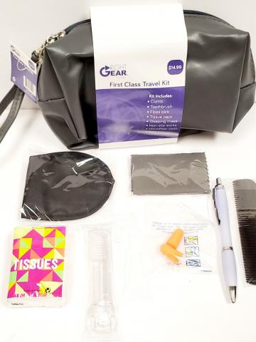 9-Piece: First Class Travel Kit with Toiletry Bag