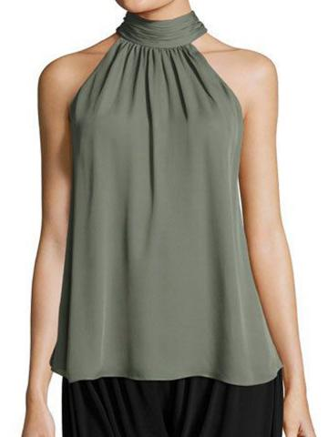 Plain Sleeveless Blouse