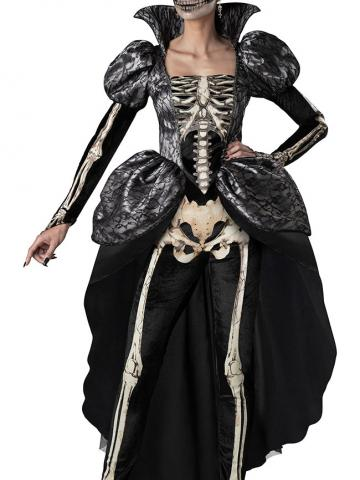 Regal Skeleton Queen Costume by In Character Costumes, Size L - Yandy.com
