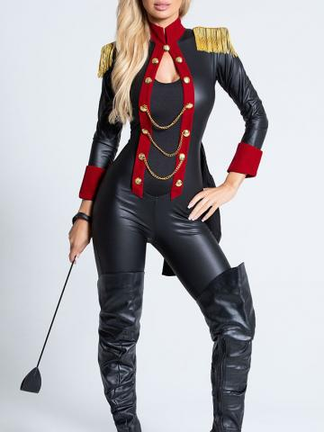 Sassy Ringleader Costume by Roma, Black/Red, Size L - Yandy.com